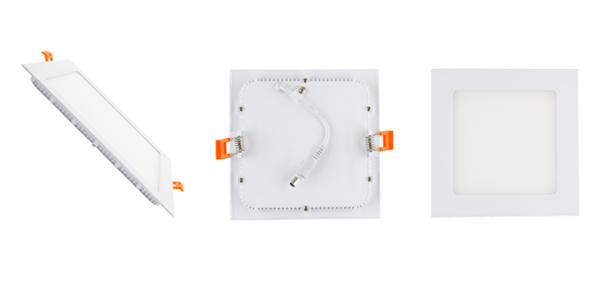 instaPLAIN quadra flat square ceiling lamps